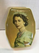 Queen Elizabeth II Souvenir Empty Tin 1953 Coronation Horners Boy Blue Toffees