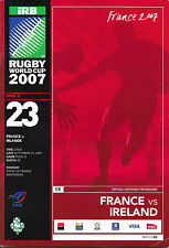 France v Ireland, 21/09/2007 - World Cup Group Match Programme