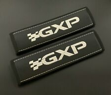 Pontiac GXP soft Black seat belt covers pads with white embroidery 2pcs