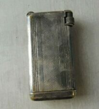 Ancien briquet Flaminaire Quercia Crillon, en métal argenté, vintage