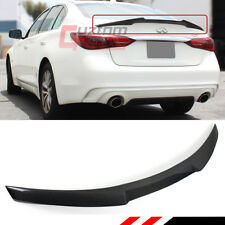 FOR 2014-2018 INFINITI Q50 JDM M4 STYLE REAL CARBON FIBER TRUNK LID SPOILER WING