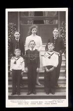 r3838 -  The Five Princes & Princess Mary, children of King George V  - postcard