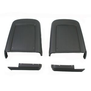 1967 Mustang Shelby Seat Backs and Side Covers Deluxe Black 4 Piece Set - NEW