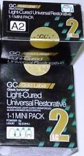 Pack of 15  GC Fuji Gold Label 2 LC Light Cured Glass Ionomer Cement