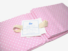 Charmant Pottery Barn Kids Pink White Mini Polka Dot Fabric Cotton Shower Curtain New