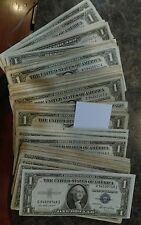 silver Certificate $1.00 1935-1957 Varying Dates And Mint Marks Nice Bills