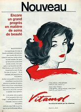 ▬► PUBLICITE ADVERTISING AD VITAMOL produit de beauté vitamine 1958