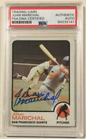 1973 Topps JUAN MARICHAL Signed Autographed Baseball Card PSA/DNA #480 Giants
