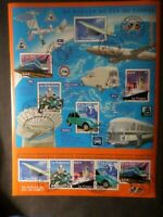FRANCE 2002, BLOC 47 TRANSPORTS, AVION, BATEAU, TRAIN, OBLITERE 1° JOUR FDC , VF