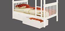 Dual Under Bed Storage Drawer White 505-W New