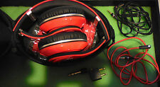Monster Studio BEATS by Dr Dre RED Wired w/ Case &  Accessories 190003-00