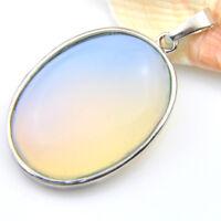 Special Price Rainbow Moonstone Gemstone Silver Necklace Pendants Jewlery Gift