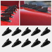 Universal 10X ABS Roof Shark Fins Spoiler Wing Kit Vortex Generator EVO-St FLL