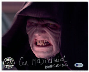 IAN MCDIARMID SIGNED 8x10 PHOTO + DARTH SIDIOUS STAR WARS OPX BECKETT BAS