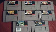 Super Nintendo SNES Game Bundle Lot - 8 Semi Rare Games - FAST FREE PRIORITY