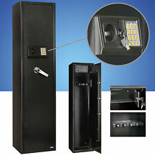 5 Gun Rifle Shot gun Storage Pistol Electronic Lock Steel Safe Cabinet Firearm