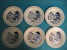 SIX ASSIETTES PLATES EN CÉRAMIQUE DE CREIL MONTEREAU  HIPPOLYTE BOULENGER