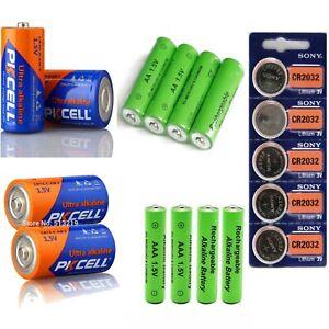 Rechargeable Battery 1.5V 4 x AA AAA, 2 x LR14, 2 x LR20, 3v 5 x CR2032