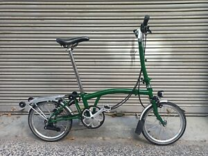 Bicicleta Brompton 6v verde full extras