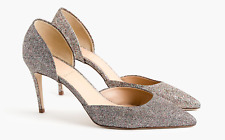 New In Box J.Crew Lucie Glitter Pumps High Heels Size 10