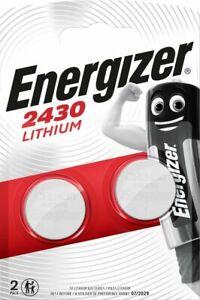2 x Energizer CR2430 3V Lithium Coin Cell Battery 2430 DL2430 K2430L ECR2430