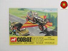 Corgi Toys Catalogue 1969 BELGIUM edition **VV RARE** 2 dual language checklists