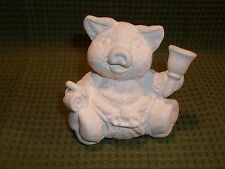 12 Month Calendar Pig January New Year's ~ Ceramic Bisque Ready to Paint