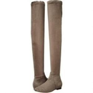 Joie Hayleigh Over the Knee OTK Boots Taupe Suede Tall Womens Boots 36.5 6.5 US