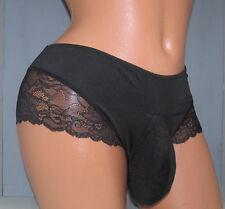 Marilyn's Black Bikini  SISSY POUCH PANTIES Crossdress for Men Sz 30-46 XL