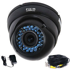 Dome Security Camera Pixim DSP WDR IR LED Infrared Vandalproof Night Outdoor CAM