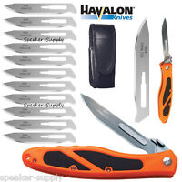 Havalon Knives Piranta Edge Skinning Folding Field Knife Orange + Blades 60AEDGE