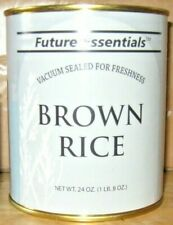5 Future Essentials Brown Rice Vacuum Sealed Canned Product of USA Prepping Food