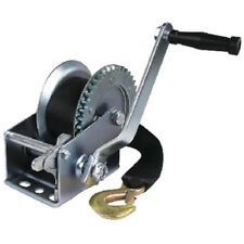 Zinc Plated 1,000 lbs Maximum Load Boat Trailer Winch - 2 Inch x 25 Ft Strap