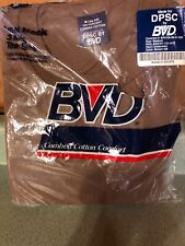 Vintage BVD Crew Neck T-Shirt (Pack of 3) Mens M Cotton New 90s  USA 🇺🇸🇺🇸