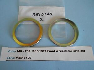 Volvo 740 -760 1985-1987 2- Front Wheel Seal Retainers with 2- Piece Hub & Rotor