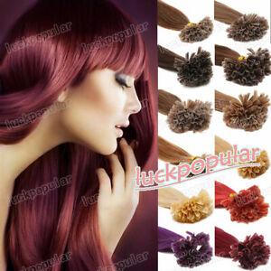 Pre Keratin Bonded Hot Fusion Nail U Tip Glue Remy Human Hair Extensions 1g/s 9A