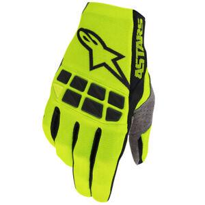 Alpinestars Racefend Fluo Yellow Black MX Enduro Motocross Gloves Size Small