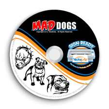 MAD DOGS CLIPART-VECTOR CLIP ART-VINYL CUTTER PLOTTER IMAGES &TSHIRT GRAPHICS CD