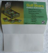 1982 Donruss Golf Stars Bubble Gum Cards SELL SHEET (No Cards)