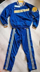 Golden State Warriors Champion warmup jacket & pants M NBA jersey Curry Jordan