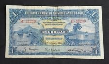 1939 Authentic Trinidad And Tobago 1 Dollar Circulated January 2nd