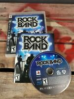 Playstation 3 PS3 Rock Band Game Complete Fun Music Game Guitar Drums Ship FAST