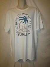 mens hurley surfer t-shirt XXL nwt RIP white