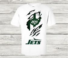 New York Jets Rip Tear T Shirt NFL Gildan Stack Logo 100% Cotton