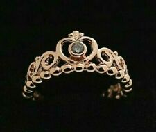 GENUINE S925 ROSE GOLD  PRINCESS TIARA CROWN RING SIZE LIMITED QUANTITY SALE !!