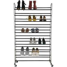 Shoes Rack Type Stackable Organizer Metal Frame 10 Tier Narrow Free Standing