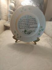 Belleek Irish china plate with Irish Blessing. Perfect condition. With easel.