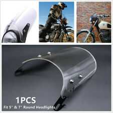 """1x Fit for 5"""" & 7"""" Round Headlights Motorcycle Scooter Windshield Windscreen Kit"""
