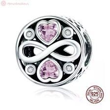 Charm Anhänger wf. Pandora Unendlichkeit Infinity Herz Herzen 925 Sterlingsilber