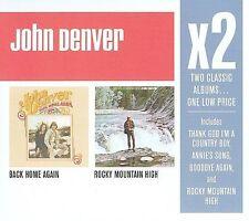 Rocky Mountain High/Back Home Again [Box] by John Denver (CD, May-2008, 2 Discs,